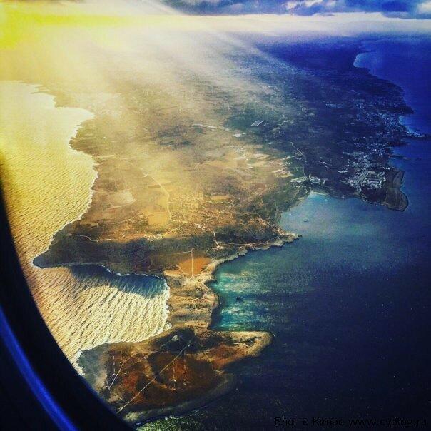 Кипр из иллюминатора